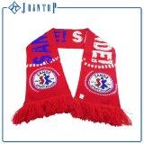 Изготовленный на заказ шарф футбола вентилятора жаккарда для веселить