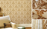 2017 Hot Sale Interior Luxury Flocking Wallpaper para Decoração para o lar