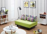 Sofá de madeira Cum o projeto da base, sofá moderno da tela de Dunlop do assento da mobília dois de China Cum o projeto da base