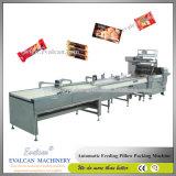 De automatische Verpakkende Machine van de Verpakking van het Hoofdkussen van de Stroom van de Snackbar van het Graangewas van de Chocolade
