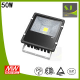 Luz de inundação ao ar livre impermeável do diodo emissor de luz IP65 50W da ESPIGA elevada de Epistar do lúmen