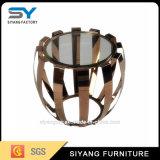 Mesa de centro inoxidável do vidro do frame de aço da mobília do jardim