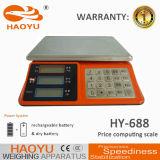 Échelle de pesage électronique des prix de la batterie 4V/4ah rechargeable