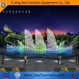 Fontana corrente di musica di figura del fiore