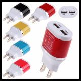 Stecker 2-USB USB-Wand-Aufladeeinheits-Adapter für Handy