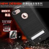 Móvil/caja antirresbaladizos del teléfono celular para el iPhone 7/7plus con Stander