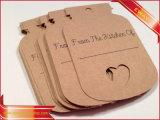 Kraft étiquette imprimée vêtement Étiquette de papier