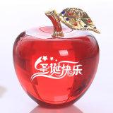 Vidro de cristal cores Apple para presente de Natal