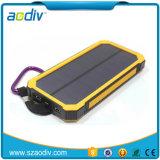 El logotipo del fabricante en el exterior de la Energía Solar Cargador solar portátil resistente al agua banco