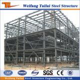 Construction de construction de structure métallique préfabriquée avec le faisceau de grue
