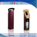 Hot Selling Individual PU Leather Bottle Wine Holder (5414R 23)