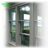 Конструкция с возможностью горячей замены одного 5мм серого стекла скользящего окна из ПВХ