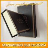 Porte-monnaie de papier carton noir mat boîte cadeau