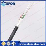 Conducto Outddor 12 24 72 96 144 Core Tubo holgado trenzado Fuerza FRP Miembro cable de fibra óptica (GYFY)
