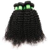 I capelli umani dell'onda profonda impacchettano la trama naturale dei capelli neri
