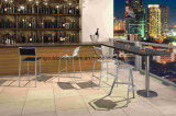 Bar exterior cadeiras com braço de mobiliário de teca