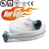 Mangueira dobro da lona do incêndio do revestimento do PVC, mangueira flexível da luta contra o incêndio