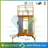 6m a 14m Empurre em torno vertical da escada de elevação da antena de liga de alumínio