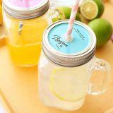 Freies Beispielfestival-Gebrauch-Getränk-Becher-/Griff-Cup-/Mason-Glas mit Kappe