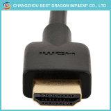 Chapado en oro de 10cm de 1,4 V Breve Soft HDMI Cable