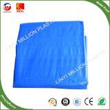 150gsm Lona de tecido de PE azul escuro da China PE oleados