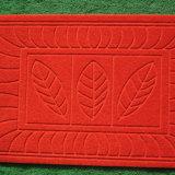 Migliore stuoia di portello di Emboosed di colore rosso di prezzi della Cina