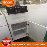 Peinture blanche en bois massif à prix abordable armoires de cuisine