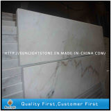 Telhas de mármore brancas baratas Polished de Guangxi para a escada e o peitoril