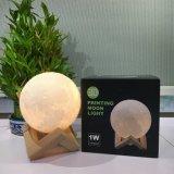 ギフトのための磁気大きい3D印刷ライト3D月ランプ