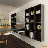 Oppein Modern Yellow Acrylic Wood Kitchen Cabinets com console (OP15-A01)