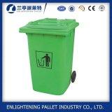In het groot Plastic Wastebin met de Aanhangwagen van het Pedaal van het Wiel
