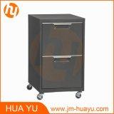 Armário de armazenamento de carbono móvel de 2 gavetas para quarto, sala de estar ou escritório