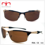 Óculos de sol masculinos para esportes de metal com Spring Temple (WSP-7)