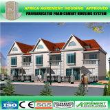 Casa pré-fabricada da casa Prefab do painel de sanduíche do cimento da espuma da certificação do GV