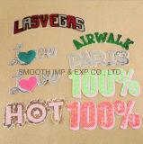 Wholsale Veste roupas Cartas Sequin enfeite personalizado de tecido de patches