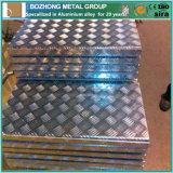Folha de alumínio em relevo em relevo 6060 Folha de alumínio Preço da placa de verificador