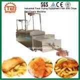 Alimentaria Industrial Equipos de freír el pescado y patatas fritas, Sartenes de la correa de la máquina