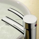 Robinet en laiton de finition de bassin de salle de bains de chrome monté par paquet BRITANNIQUE de type