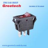 China Interruptor oscilante de fornecedor de neon de Luz Vermelha 15A 125VAC para máquinas eléctricas