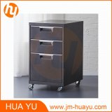 "ホームFurniture 18 "" BlackのDeep 3 Drawer Steel Rolling File Cabinet"