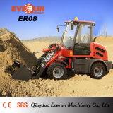 Everun Marke CER anerkannte Minikompakte Rad-Ladevorrichtung des bauernhof-Hilfsmittel-Er08 mit Gras-Gabeln