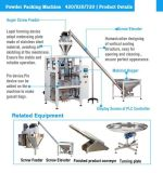 Maize Flour Meal Powder Vffs Packaging Machine