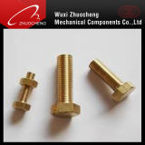 ISO CertificateのDIN933 DIN931 Asme Brass Hex Tap Bolt