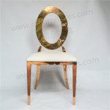 Volta Redonda com ouro Casamento Oco Cadeira de Aço Inoxidável Ycx-Ss28