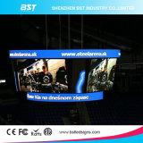 조정 임명을%s P3 풀 컬러 구부려진 LED 스크린