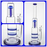 Boro-starkes Glas mit doppelte Schicht-Bienenwabe-und Kopf-Dusche und guter Filtrierapparat-Stärken-Unterseite