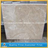 En marbre beige travertin poli naturelles pour l'étage Mur d'asphaltage des revêtements de sol