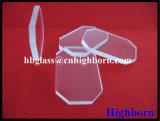 Scheda quadrata libera polacca di vetro di quarzo fuso del fuoco