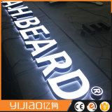 La double lumière de côtés DEL acrylique signe la lettre
