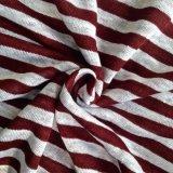 Il filato ha tinto il tessuto lavorato a maglia tela per la maglietta (QF14-1546-SS)